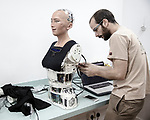 "The lab of Hanson Robotics in Hong Kong, the "" house of Sophia "" where the process of the making happens<br /> 