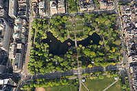 Public Garden aerial view, Boston, MA