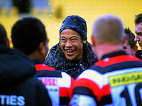 Counties Manukau coach Tana Umaga is sprayed with champagne after the win. ITM Cup - Wellington Lions v Counties-Manukau Steelers at Westpac Stadium, Wellington, New Zealand on Sunday, 8 August 2010. Photo: Dave Lintott/lintottphoto.co.nz.
