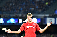 Erling Braut Haland of FC Salzburg (R) celebrates after scoring on penalty the goal of 0-1 for his side<br /> Napoli 05-11-2019 Stadio San Paolo <br /> Football Champions League 2019/2020 Group E<br /> SSC Napoli - FC Salzburg<br /> Photo Antonietta Baldassarre / Insidefoto