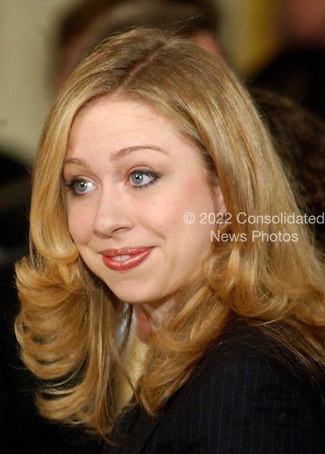 Chelsea Clinton at the White House ceremony where her parent's portraits were unveiled at the White House in Washington, D.C. on June 14, 2004..Credit: Ron Sachs / CNP