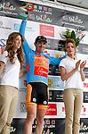 Pablo Urtasun (Euskaltel Euskadi team) wins the first stage of the Castilla and Leon 2013 Cycling Tour. The first stage of the 28th tour took place from Arevalo (Avila) to Valladolid. April 12, 2013. Valladolid, Spain. (Alterphotos/Victor J Blanco)