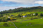 County Kerry, Ireland:<br /> A view farms and fields on the Iveragh Peninsula, from the Ring of Kerry