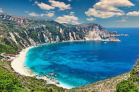The spectacular beach Petani in Kefalonia island, Greece