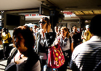 Crowds at the train station in Naples, Italy...PHOTOS/ MATT NAGER