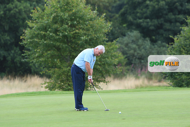 Martin Darcy (Tullamore) on the 14th green during the Final of the Irish Mixed Foursomes Leinster Final at Millicent Golf Club, Clane, Co. Kildare. 06/08/2017<br /> Picture: Golffile | Thos Caffrey<br /> <br /> <br /> All photo usage must carry mandatory copyright credit     (&copy; Golffile | Thos Caffrey)