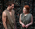 """03/02/2011. """"A Rude Awakening"""", written by Dr Barry Peters and directed by Olivia Rowe, opens at the New End Theatre, Hampstead. James le Feuvre (as Tran Lor) and Genevieve Adam (as Dalina Malinsky). Picture credit should read: Jane Hobson"""