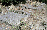 Footings of the Pont du Gard, Nimes France, early 1st c. CE