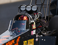 Jul. 19, 2014; Morrison, CO, USA; NHRA top fuel driver Rob Passey during qualifying for the Mile High Nationals at Bandimere Speedway. Mandatory Credit: Mark J. Rebilas-