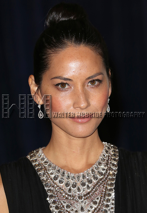 Olivia Munn  attending the  2013 White House Correspondents' Association Dinner at the Washington Hilton Hotel in Washington, DC on 4/27/2013