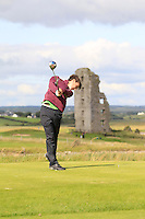Sean Doyle (Athlone) on the 13th tee during Round 2 of The South of Ireland in Lahinch Golf Club on Sunday 27th July 2014.<br /> Picture:  Thos Caffrey / www.golffile.ie