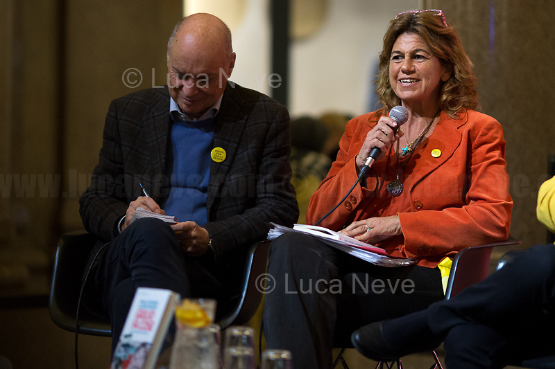 """Alessandra Ballerini.<br /> <br /> Rome, 03/02/20. The Galleria Alberto Sordi (outside la Feltrinelli store) was the venue for the book presentation """"Giulio Fa Cose"""" (Giulio Does Things, Ed. la Feltrinelli 1.) written by Paola Deffendi and Claudio Regeni (Giulio Regeni's Parents), and Alessandra Ballerini (Regeni's Lawyer). The event was hosted by Marino Sinibaldi (Journalist, literary critic, Radio host). Reader was Valerio Mastandrea (Director & Actor). From la Feltrinelli's website: «The world of politics has not yet responded to the tragedy of Giulio Regeni, who died on 25 January 2016 in Cairo. Al Sisi's Egypt did not respond. Indeed, it continues to sabotage the investigation into the kidnapping, torture and murder of the son of Paola and Claudio Regeni: in four years the Egyptians have killed five innocent people, invented incredible stories, falsified documents to remove suspects from their apparatuses. But without succeeding[…]» (1.)<br /> Giulio Regeni was an Italian Cambridge University graduate (PhD student at Girton College) who was kidnapped, tortured and killed in Egypt while he was researching Egypt's independent trade unions. The body of the 28-year-old researcher was found on a Cairo road on 3 February 2016. According to the autopsy, Giulio died after a vertebra in his neck was fractured. Moreover, his body - found on the Cairo-Alexandria desert road - shown signs of tortures, abrasions - including marks similar to cigarette burns - and fractures. After 4 years of disinformation, depistaggi, reticence, misdirection, the role of the Cambridge University, the role of President Al-Sisi Egyptian regime, after four years of a very difficult investigations for the Italian Police, the Regeni family and thousands of people are still calling for immediate truth about this brutal assassination.<br /> <br /> 1. http://bit.do/fqv39<br /> https://giuliosiamonoi.wordpress.com<br /> http://bit.do/frEzC<br /> 25.01.20 4 Anni Senza Giulio http://bit.do/frExj<br /> """