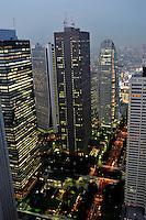 Skyscrapers in the Shinjuku district of downtown Tokyo, Japan. .11 Jun 2009