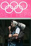 Olympia 2004 Athen Medien; Fotograf; Ringe