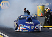 Feb. 22, 2013; Chandler, AZ, USA; NHRA pro stock driver Kurt Johnson during qualifying for the Arizona Nationals at Firebird International Raceway. Mandatory Credit: Mark J. Rebilas-