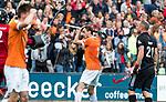 BLOEMENDAAL   - Hockey -  3e en beslissende  wedstrijd halve finale Play Offs heren. Bloemendaal-Amsterdam (0-3). Florian Fuchs (Bldaal) heeft gemist.    Amsterdam plaats zich voor de finale.  COPYRIGHT KOEN SUYK