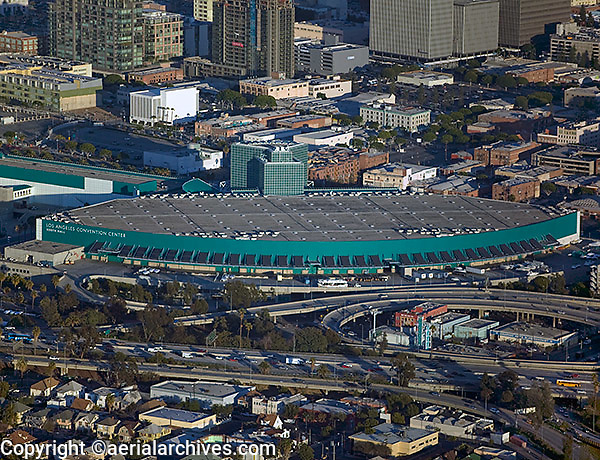 aerial photograph Los Angeles Convention Center, California