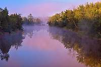 Whanapitae River at sunrise, Killarney District, Ontario, Canada