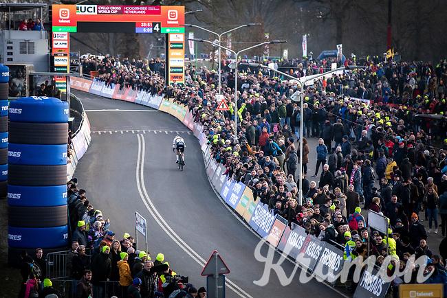 eventual winner Mathieu Van der Poel (NED/Alpecin Fenix) <br /> <br /> Men Elite Race<br /> UCI Cyclocross Worldcup – Hoogerheide (Netherlands)<br /> <br /> ©kramon