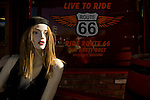 Route 66 memoribilia and icons in Seligman, Arizona