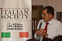 "02.06.2011 - LSE Presents: Romano Prodi - ""Europe, between the US and China, in a Changing World"""