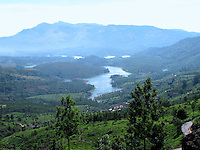 Picturesque landscape of munnar with mountains,trees and river.