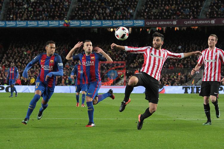Copa del Rey 2016/2017 - 1/8 final vuelta.<br /> FC Barcelona vs Athletic Club: 3-1.<br /> Neymar, Jordi Alba &amp; Boveda.
