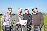 CONTRACTORS: The contractors who were responsible for the refurbish of St Marys Church, Camp and was offially blessed by the Bishiop of Kerry  Bill Murphy, on Sunday, l-r: Larry Sayers (carpenter), Michael Williams (aristic), Fr John Buckley (PP) and John Guilfoyle (plummer).....