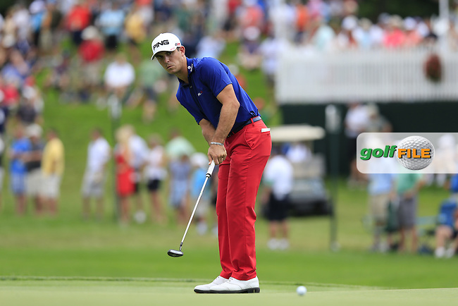 Billy Horschel (USA) putts on the 6th green during Thursday's Round 1 of the 95th US PGA Championship 2013 held at Oak Hills Country Club, Rochester, New York.<br /> 8th August 2013.<br /> Picture: Eoin Clarke www.golffile.ie