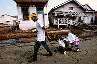 Aftermath of Hurricane Katrina.