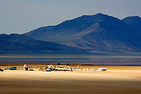 Group of glider enthusiasts on the Alvord Desert. Oregon