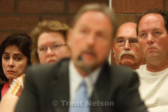 Trent Nelson     The Salt Lake Tribune.Draper - Commutation hearing for death-row inmate Ronnie Lee Gardner Thursday, June 10, 2010, at the Utah State Prison. kathy potter, craig watson, as Craig Haney testifies