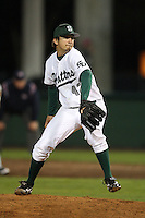 February 20, 2010:  Pitcher Nick Bohne (42) of the Stetson Hatters during the teams opening series at Melching Field at Conrad Park in DeLand, FL.  Photo By Mike Janes/Four Seam Images