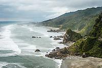 Coastal scene near Punakaiki, Paparoa National Park, West Coast,  Buller Region, New Zealand, NZ