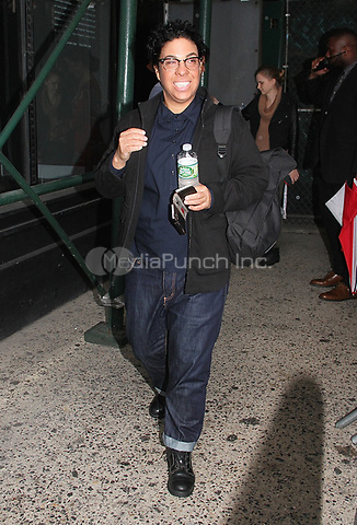 NEW YORK, NY - OCTOBER 9: Film director Angela Robinson spotted leaving 'AOL Build' where she talked about the movie 'Professor Marston and the Wonder Women'  in New York, New York on October 9 , 2017.  Photo Credit: Rainmaker Photo/MediaPunch