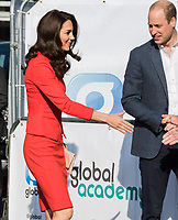 HAYES, UNITED KINGDOM - APRIL 20: Catherine, Duchess of Cambridge &amp; William, Duke of Cambridge attends the official opening of The Global Academy in support of Heads Together on April 20, 2017 in Hayes, England. <br /> CAP/JOR<br /> &copy;JOR/Capital Pictures /MediaPunch ***NORTH AND SOUTH AMERICAS ONLY***