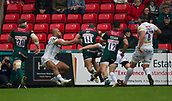 30th September 2017, Welford Road, Leicester, England; Aviva Premiership rugby, Leicester Tigers versus Exeter Chiefs;  Jonny May runs in a try for Leicester Tigers