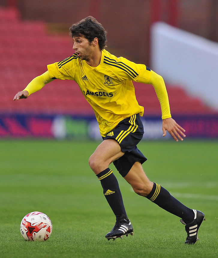 Middlesbrough's Diego Fabbrini<br /> <br /> Photographer Dave Howarth/CameraSport<br /> <br /> Football - Football Friendly - Barnsley v Middlesbrough - Wednesday 29th July 2015 - Oakwell - Barnsley<br /> <br /> &copy; CameraSport - 43 Linden Ave. Countesthorpe. Leicester. England. LE8 5PG - Tel: +44 (0) 116 277 4147 - admin@camerasport.com - www.camerasport.com