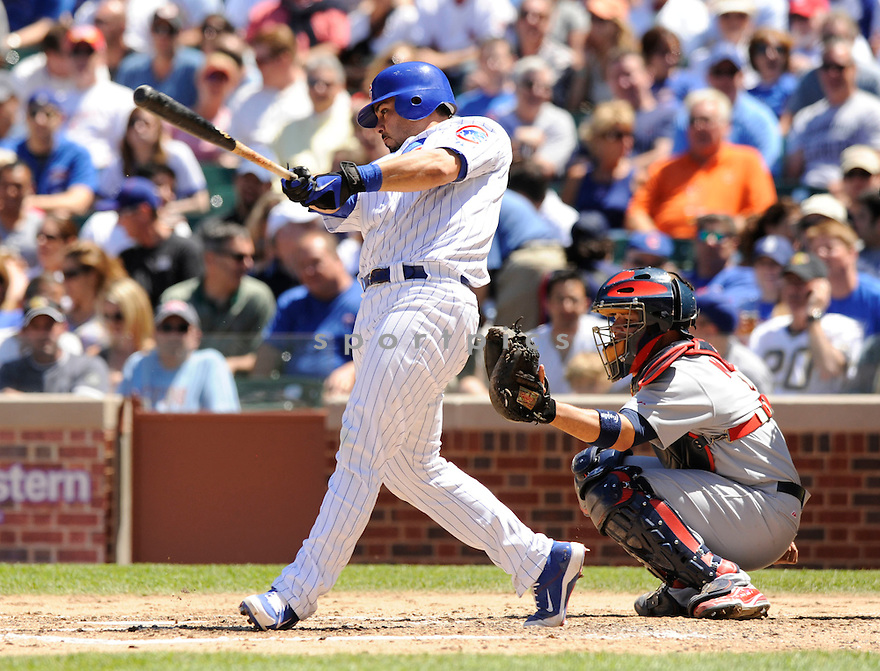 GEOVANY SOTO,  of the Chicago Cubs  in action  during the Cubs game against the St. Louis Cardinals.  The Cardinals beat the Cubs 7-1 in Chicago, Illinois on May 28, 2010...DAVID DUROCHIK / SPORTPICS