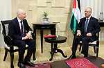 Palestinian Prime minister, Rami Hamadallah, meets with US special envoy to the peace process, Jason Greenblatt, in the West Bank city of Ramallah,on Oct 16, 2017. Photo by Prime Minister Office