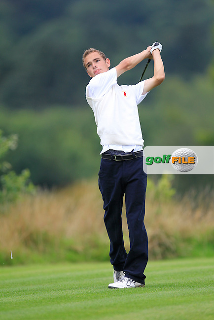 Ryan Corry (Ulster) on the 10th tee during the Boys Under 15 Interprovincial Championship Morning Round at the West Waterford Golf Club on Wednesday 22nd August 2013 <br /> Picture:  Thos Caffrey/ www.golffile.ie