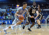 December 12, 2015 - Colorado Springs, Colorado, U.S. -  Air Force forward, Hayden Graham #35, drives the baseline during an NCAA basketball game between the Army West Point Black Knights and the Air Force Academy Falcons at Clune Arena, U.S. Air Force Academy, Colorado Springs, Colorado.  Army West Point defeats Air Force 90-80.