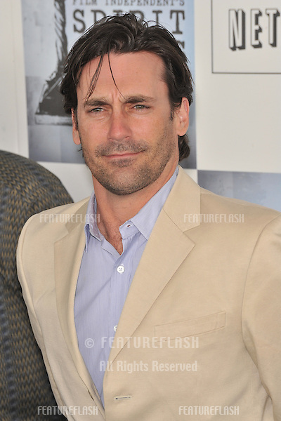 Jon Hamm at the Film Independent Spirit Awards on the beach at Santa Monica, CA..February 21, 2009  Santa Monica, CA.Picture: Paul Smith / Featureflash