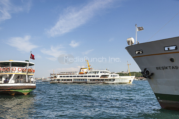 Passenger ferries in the Bosphorus Strait, Istanbul, Turkey  May 2015.<br /> CAP/MEL<br /> &copy;MEL/Capital Pictures /MediaPunch ***NORTH AND SOUTH AMERICA ONLY***