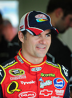Feb 9, 2008; Daytona, FL, USA; Nascar Sprint Cup Series driver Jeff Gordon during practice for the Daytona 500 at Daytona International Speedway. Mandatory Credit: Mark J. Rebilas-US PRESSWIRE