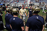 DURHAM, NC - APRIL 30: Notre Dame assistant coach Gerry Byrne. The University of North Carolina Tar Heels played the University of Notre Dame Fighting Irish on April 30, 2017, at Koskinen Stadium in Durham, NC in a 2017 ACC Men's Lacrosse Tournament Championship match. UNC won the game 14-10.