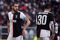 Leonardo Bonucci and Rodrigo Bentancur of Juventus <br /> Torino 1-12-2019 Juventus Stadium <br /> Football Serie A 2019/2020 <br /> Juventus FC - US Sassuolo 2-2 <br /> Photo Federico Tardito / Insidefoto