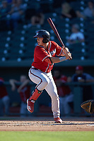 Logan Brown (99) of the Rome Braves at bat against the Columbia Fireflies at Segra Park on May 13, 2019 in Columbia, South Carolina. The Fireflies walked-off the Braves 2-1 in game one of a doubleheader. (Brian Westerholt/Four Seam Images)