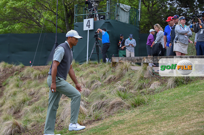 Tiger Woods (USA) heads to the tee on 5 during day 4 of the WGC Dell Match Play, at the Austin Country Club, Austin, Texas, USA. 3/30/2019.<br /> Picture: Golffile | Ken Murray<br /> <br /> <br /> All photo usage must carry mandatory copyright credit (© Golffile | Ken Murray)