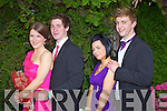 BALL: Attending the Gael Colaiste Chiarrai Debs Ball in the Abbeygate Hotel, Tralee on Friday night were Sadhbh Coakley, Stephen Cahill, Orla Griffin, Evan O'Brien..